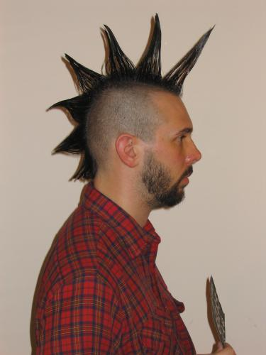 Unstyled mohawk